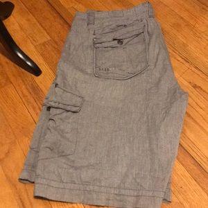 BKE men's cargo long shorts